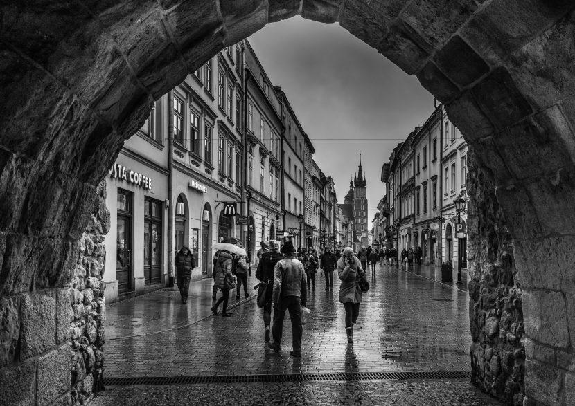 Raining in Krakow-