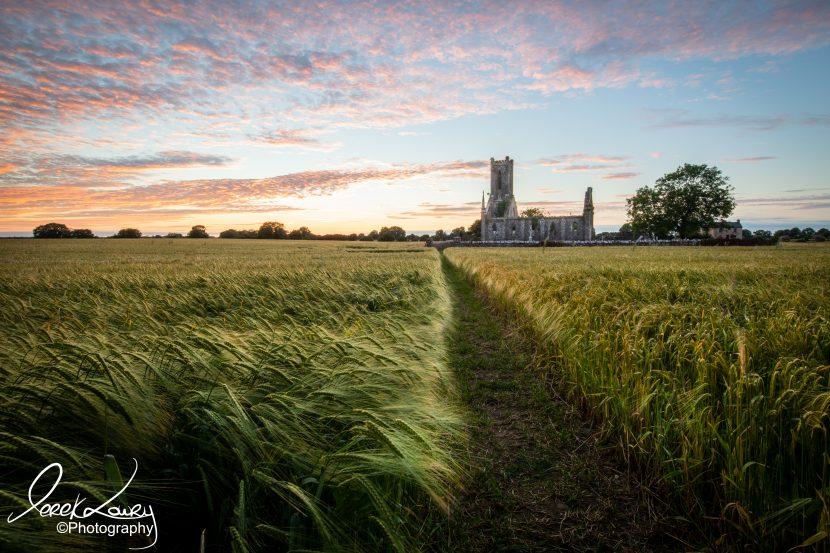 Church through the field