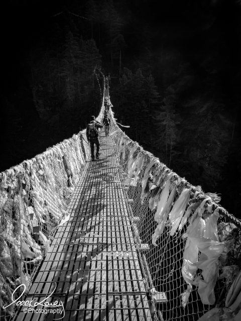 Rope bridge to Dingboche