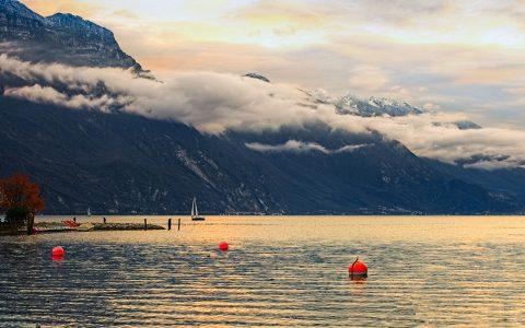 Evening at lake Garda