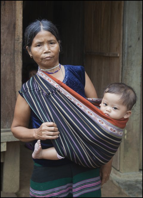 Tribal Woman and Baby